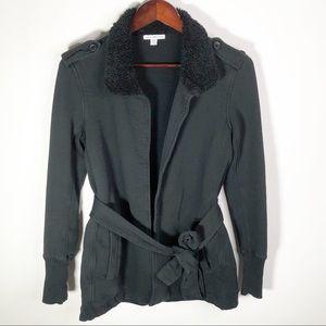 JAMES PERSE Surplus Wrap Jacket JP 2 Belt Black